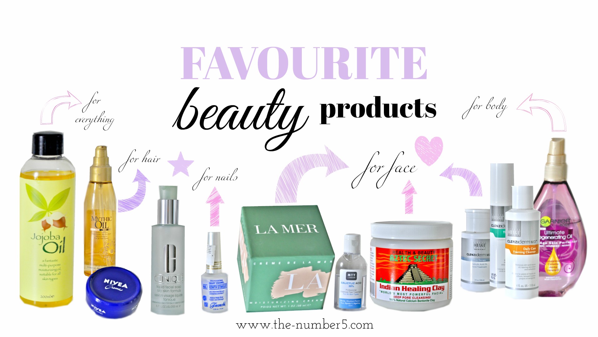 favourite beauty products californy crystal the number 5